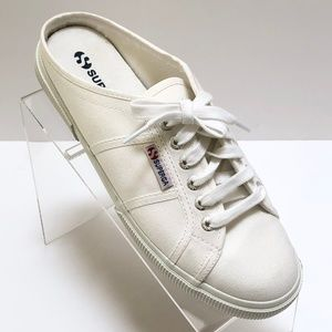 Superga White Mule Sneakers Slip On Shoes 41 / 9.5